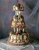 Beautifully Decorated Four Teir Wedding Cake