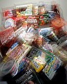 Assorted Packaged Grocery Store Items