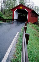 Covered bridge. Vermont. USA