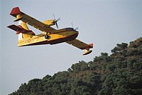 Fire-fighting seaplane. Spain