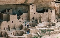 Anasazi indian ruins. Mesa Verde NP. Colorado. USA