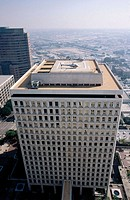 Los Angeles City Hall. Helicopter pad on top. California. USA