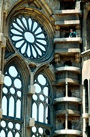 Detail of Sagrada Familia church under construction. Barcelona. Spain