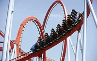 Dragon Khan Roller coaster. Universal Port Aventura Theme Park. Tarragona. Catalonia. Spain
