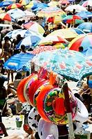 Umbrellas at beach. Rio de Janeiro. Brazil