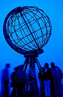 10188476, evening, blue filter, globe, island, isle, Mageroy, people, North Cape, Norway, Europe,