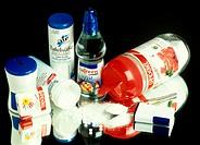 Various sugar substitutes (sweeteners) in packing