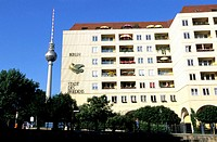 Television tower and appartments building. Berlin. Germany