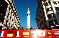Bus and monument. London. England