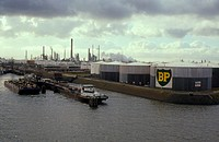 CREDIT: DAVID PARKER/SCIENCE PHOTO LIBRARY Petrochemical storage tanks and refinery at Europort, in Rotterdam, the Netherlands. Europort is the larges...