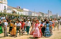 Petecost pilmigrage to El Rocío. Huelva province. Andalusia. Spain