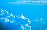 Blue clouds over Pacific. Bora Bora. French Polynesia