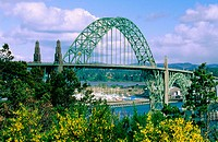 Yaquina Bay Bridge. Newport. Oregon. USA
