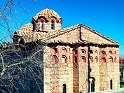 Byzantine Church of the Holy Apostles built 14th century. Leontarion. Arcadia, Peloponnese. Greece