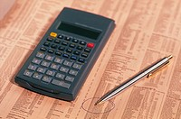 Calculator on stock market report