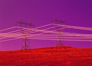 High voltage transmission towers. British Columbia. Canada