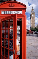 Telephon booth and Big Ben. London. England