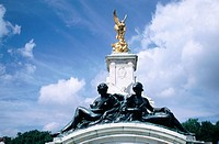 Detail of Victoria Monument, built in front of the entrance to Buckingham Palace. London. England