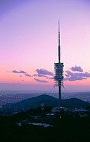 Telecommunication tower in Collserola, Norman Foster (architect). Barcelona. Spain