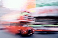Bus at Piccadilly Circus. London. England