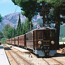 Historical train. Soller. Majorca. Balearic Islands. Spain