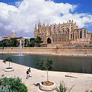 Gothic cathedral (1230-1601) of Palma de Mallorca. Majorca. Balearic Islands. Spain