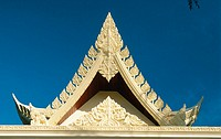 Thai style pediment. Kata Beach. Phuket. Thailand