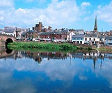 River Nith and Town Centre. Dumfries. Scotland