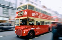 Bus at Oxford Street. London. England