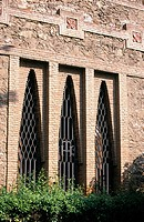 Windows of the 'Col.legi de les Teresianes', religious school (Gaudí, 1888-1890). Barcelona. Spain