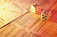 Dice on financial page
