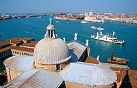 View from San Giorgio Maggiore to Dorsoduro. Venice. Italy