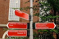 Street signs. Amsterdam. Holland