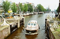 Lock on Oudeschans. Amsterdam. Holland