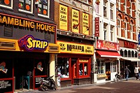 Sex shop and amusement arcade. Amsterdam. Holland