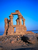 The kiosk of Kertassi (Qertassi) at Kalabsha Temple site. Nubia. Egypr