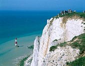 Beachy Head lighthouse. Sussex, England