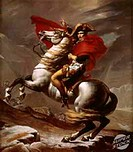 The First Consul Crossing The Alps (Napoleon). (Le Premier Consul Franchissant les Alpes). 1800 Jacques- Louis David (1748-1825/French). Musee du Louv...