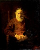 An Old Man in Red Rembrandt van Rijn (1606-1669/Dutch). Hermitage Museum, St. Petersburg