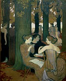 The Muses (Les Muses). 1893 Maurice Denis (1870-1943/French). Musee d´ Orsay, Paris