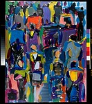 Untitled Crowd 1993, Diana Ong (b. 1940/Chinese/USA). Acrylic on Canvas Private Collection