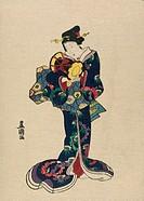 Kotsuzumi Utagawa Toyokuni (1769-1825/Japanese). Woodblock print