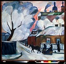 The Moscow Winter Natalia Goncharova (1881-1962/Russian). Tretiakov Gallery, Moscow
