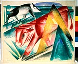 Animals 1913 Franz Marc (1880-1916/German). Pushkin Museum of Fine Arts, Moscow