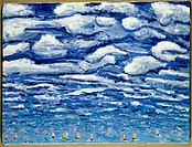 Clouds and Sailboats Peters Sickles (Living/American)