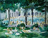 The Swimming Pool ca. 1925 Martha Walter (1875-1976/American). David David Gallery, Philadelphia