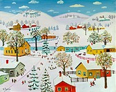 Charm of Winter 1994 Konstantin Rodko (1908-1995/Russian). Oil on canvas Super Stock Inc. Collection