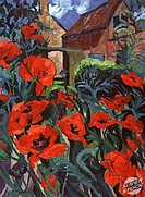 Poppies  Josephine Trotter (b.1940/British)