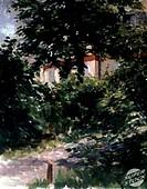 Path in The Rueil Garden (Une Alle dans le Jardin de Rueil). 19th C. Edouard Manet (1832-1883/French). Musee des Beaux- Arts, Dijon