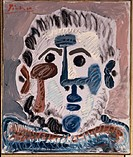 Head Of A Man 13 June 1965 Pablo Picasso (1881-1973/Spanish). Oil Louise Leiris Gallery, Paris